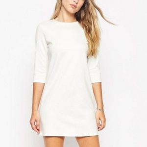 White Shift Dress in Ponte siza 4 like NEW